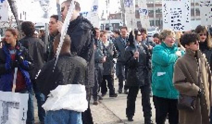 Manifestation des employés de Vidéotron