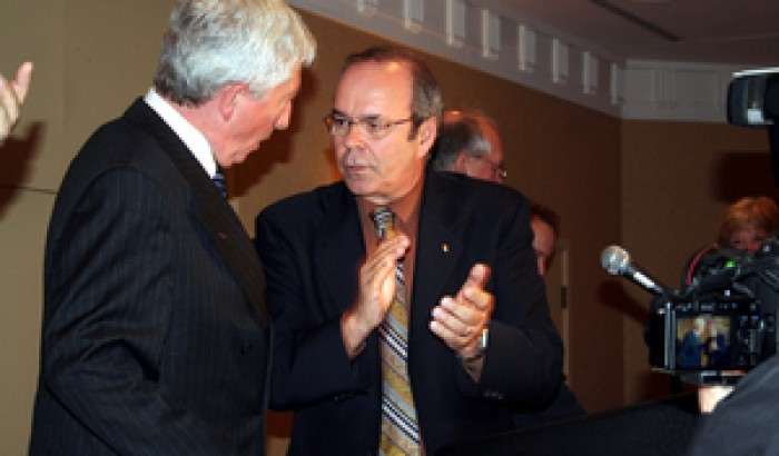 Gilles Duceppe et Michel Arsenault
