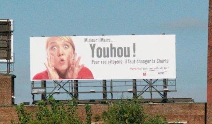 panneau publicitaire près du pont Jacques-Cartier