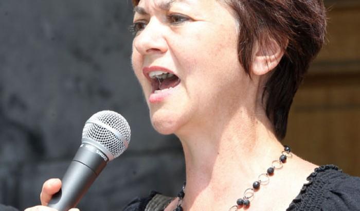 Monique Côté, présidente du Syndicat des fonctionnaires municipaux de Montréal (SFMM-SCFP 429)