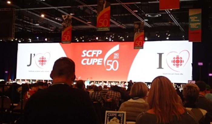 J'aime Radio-canadaAppui unanime du congrès SCFP national