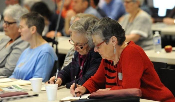 Des participantes à la deuxième journée des États généraux sur l'avenir des retraites