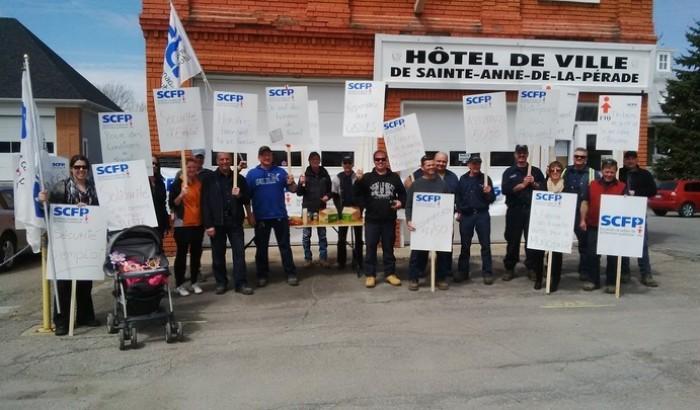 Indignation et manifestation à Sainte-Anne-de-la-Pérade en ce jour de la Fête des travailleurs