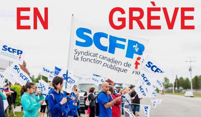 Front commun72,639 travailleurs en grève dans 6 régions pour les services publics
