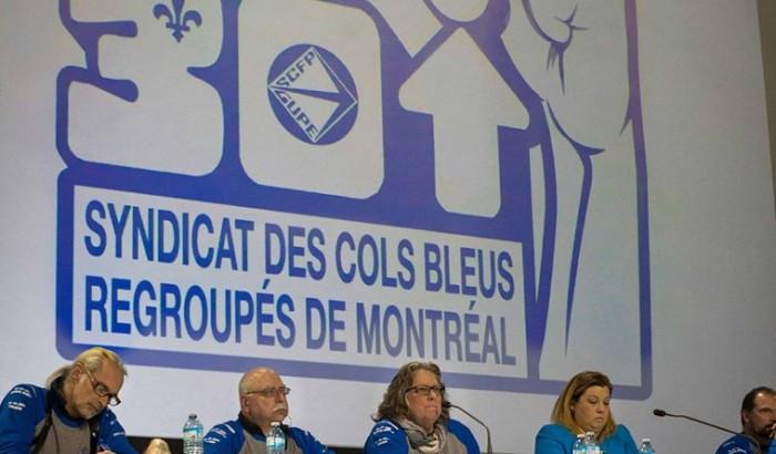 Le SCFP dénonce les mesures annoncées à l'encontre des cols bleus de la Ville de Montréal