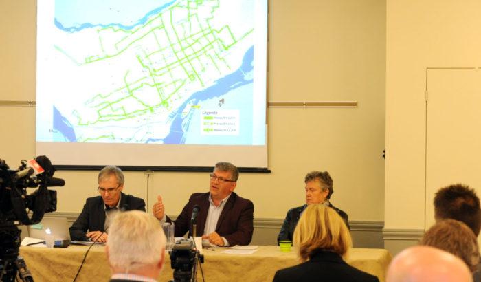 Une importante coalition demande une enquête publique sur le projet du train électrique de la Caisse de dépôt