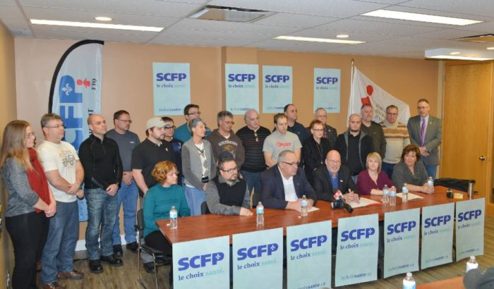 Le SCFP et la FTQ à la tête de la plus importante coalition régionale syndicale pour la sauvegarde et l'amélioration du système de santé public !