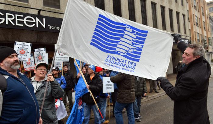 Le SCFP-Québec et le Syndicat des débardeurs du Port de Montréal participent à la journée d'action avec la Coalition maritime canadienne