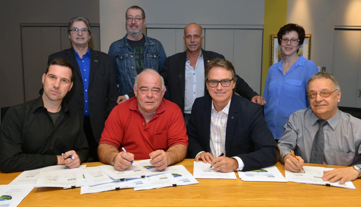 Signature à la Régie intermunicipale de l'eau potable