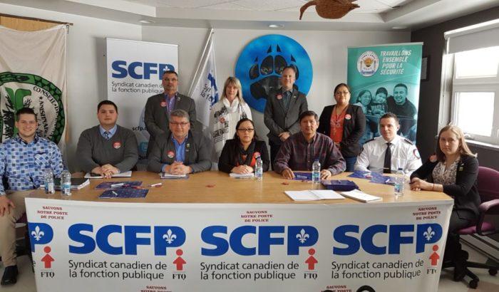 Service de police de Lac Simon; le SCFP et le Conseil de la Nation Anishnabe exigent des actions des gouvernements