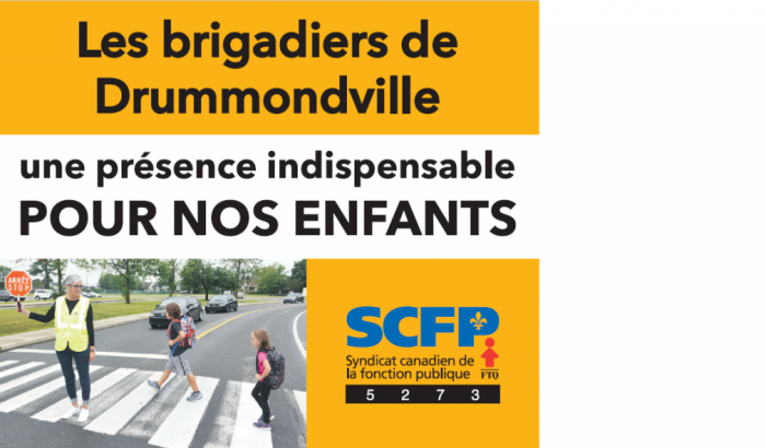 Les brigadiers scolaires de Drummondville en moyens de pression