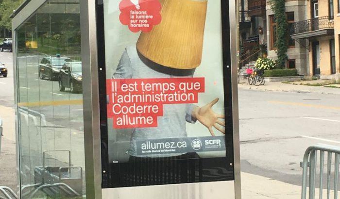 """""""Faisons la lumière sur nos horaires""""Les cols blancs de la Ville de Montréal lancent une campagne d'envergure contre Denis Coderre et son administration"""