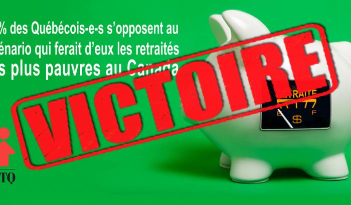 Québec s'engage à signer l'accord de Vancouver bonifiant le RRQ