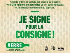 Lancement de la pétition en ligne : Verre– la fin du gaspillage– je signe pour la consigne