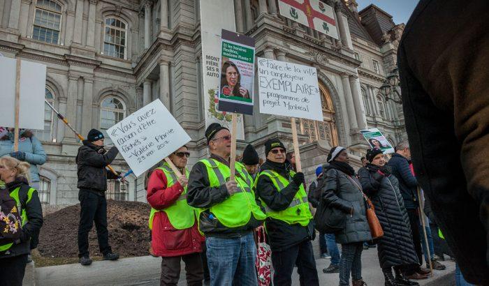 La Ville ne respecte pas la convention collectivePremière manifestation syndicale contre la mairesse de Montréal