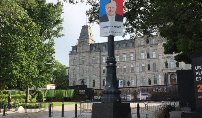 Campagne pré-électorale: On mérite mieux!Les syndicats déposent une mise en demeure contre la Ville de Québec et refusent d'enlever les pancartes
