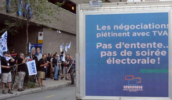 Soirée électorale menacée à TVA Montréal