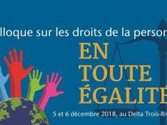 Colloque sur les droits de la personne – En toute égalité !