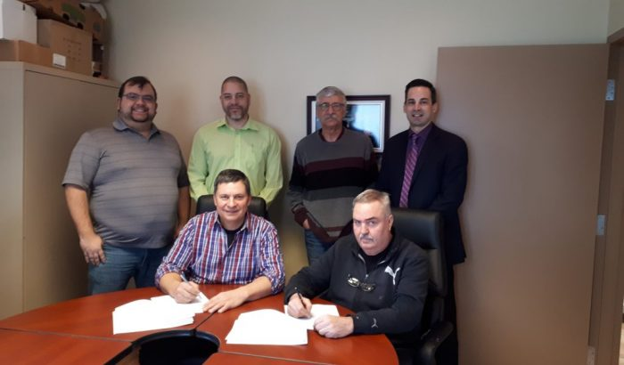 Nouveau contrat de travail à Saint-Cuthbert