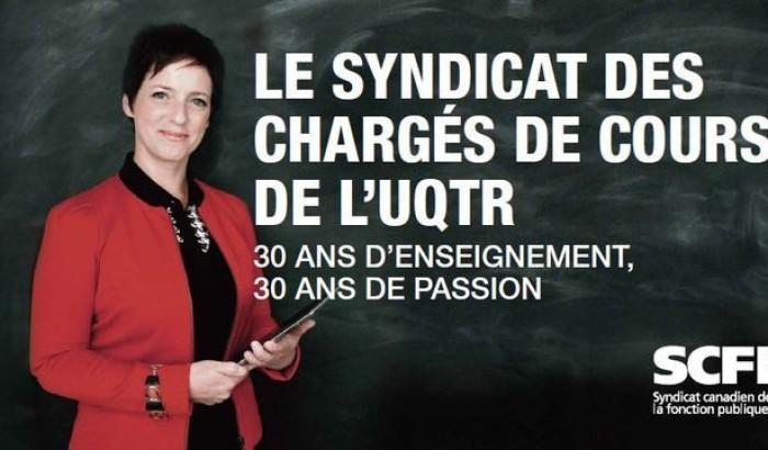 panneau d'affichage de la campagne des chargés de cours de l'UQTR