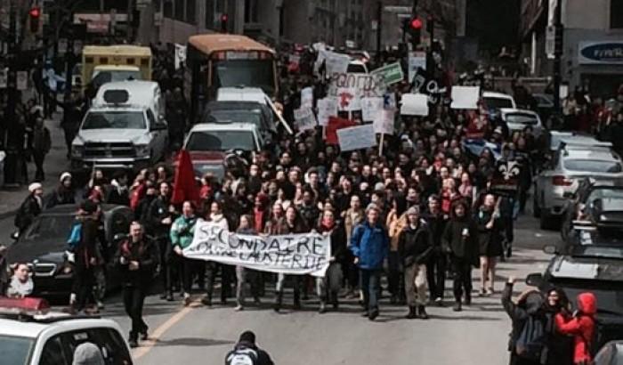 Le SCFP dans la rue aux côtés des étudiantes et étudiants