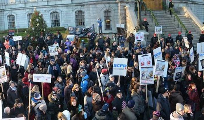 8000 cols blancs de l'Île de Montréal en grève