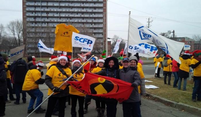 Journée de grève nationale du Front commun : rassemblement à Québec