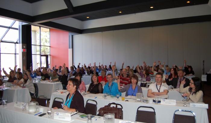 Le Syndicat des employé-e-s de techniques professionnels et de bureau d'Hydro-Québec (SCFP 2000) est présentement en congrès.