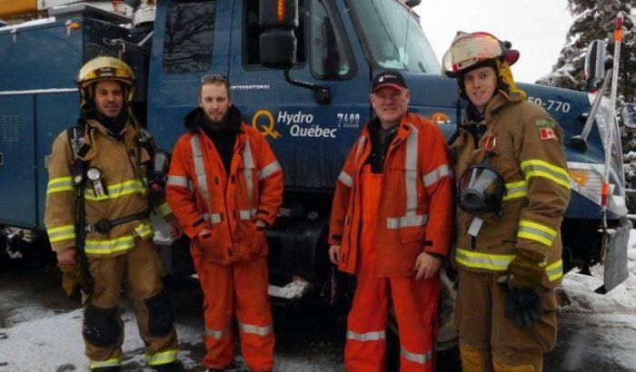 Deux membres du SCFP 1500 sauvent trois viesDe monteurs de lignes à sauveurs de vie !