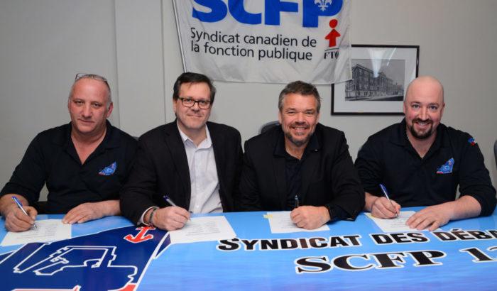 Signature d'une entente historique aux ports de Trois-Rivières et de Bécancour !