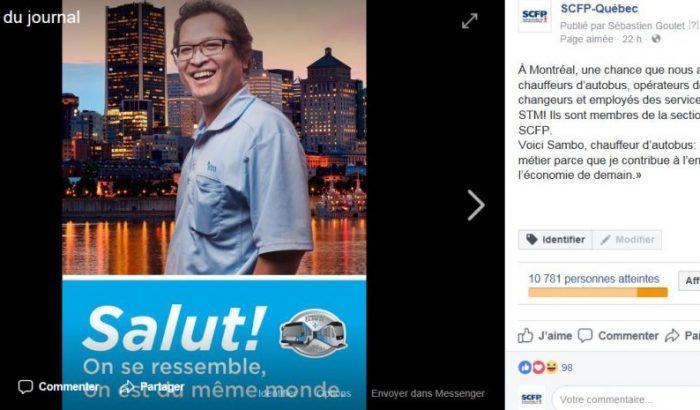 Campagne publicitaire positive des chauffeurs, opérateurs et changeurs de la STM