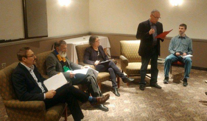 Trois candidats à la mairie de Sherbrooke ont participé à un forum du CPSM