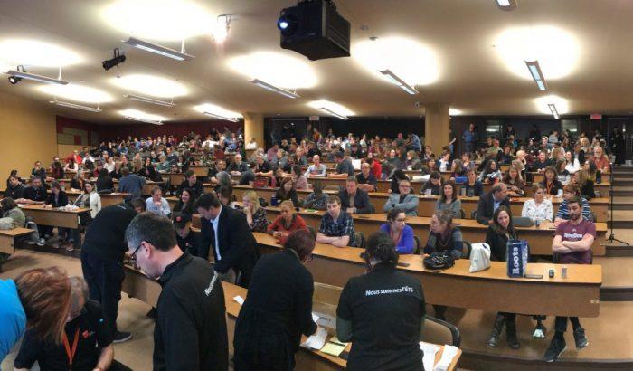 Vote de grève à l'École de technologie supérieure (ÉTS)