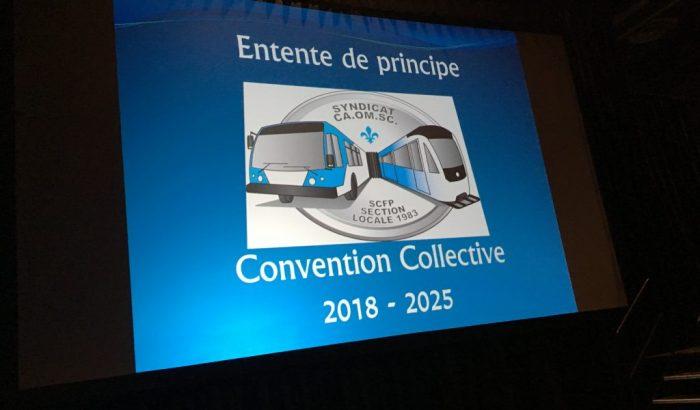 Les syndiqués votent pour l'entente de principe à la Société de transport de Montréal